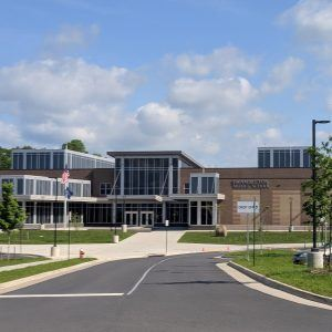 The brand new Brambleton Middle School was the first of its design in the LCPS system.